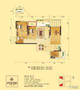 府河名居3室2厅1卫102--103平方米户型图