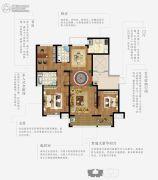 上林熙园3室2厅2卫129--132平方米户型图