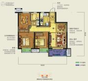 龙湖香醍西岸2室2厅2卫89平方米户型图