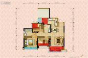 华邑阳光里3室2厅1卫93平方米户型图
