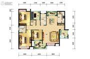 江陵・阳光华府3室2厅2卫137平方米户型图