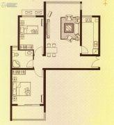 水岸华府2室2厅1卫97平方米户型图