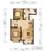 宏发石榴2室2厅1卫76平方米户型图