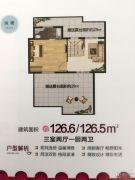 圣大・英伦国际3室2厅2卫126平方米户型图