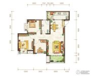 金隅时代都汇2室2厅1卫72平方米户型图