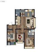 第一国际新区3室2厅2卫106平方米户型图