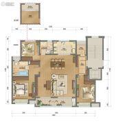 澜湖郡二期3室2厅2卫138平方米户型图