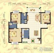 城市绿岛3室2厅2卫128平方米户型图