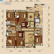 万盛・中央公馆5室4厅4卫317平方米户型图