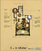 瑞城御园4室3厅4卫128平方米户型图