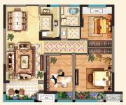 明发江湾新城3室2厅1卫85平方米户型图