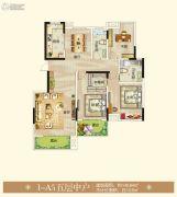 御翠园3室2厅2卫140平方米户型图