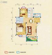 弘乐府・公园1号3室2厅1卫90平方米户型图