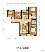 潮白家园4室1厅2卫108平方米户型图
