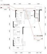望兴西西里3室2厅1卫99平方米户型图