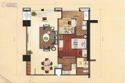 恒德国际2室2厅1卫96平方米户型图