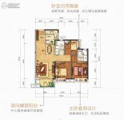 美的公园天下3室2厅2卫95平方米户型图