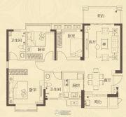 龙腾嘉园3室2厅2卫108平方米户型图