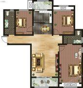 千玺�吩�3室2厅2卫136平方米户型图