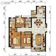 中海左岸岚庭3室2厅2卫110平方米户型图