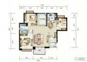 华融琴海湾3室2厅1卫115平方米户型图