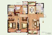 景瑞望府3室2厅2卫137平方米户型图