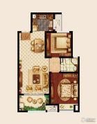 嘉宏云顶2室2厅1卫86平方米户型图
