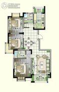 世纪嘉城3室2厅2卫135平方米户型图