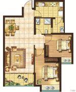 宏安莲城首府2室1厅2卫0平方米户型图
