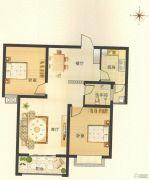 博瑞沁园2室2厅1卫0平方米户型图