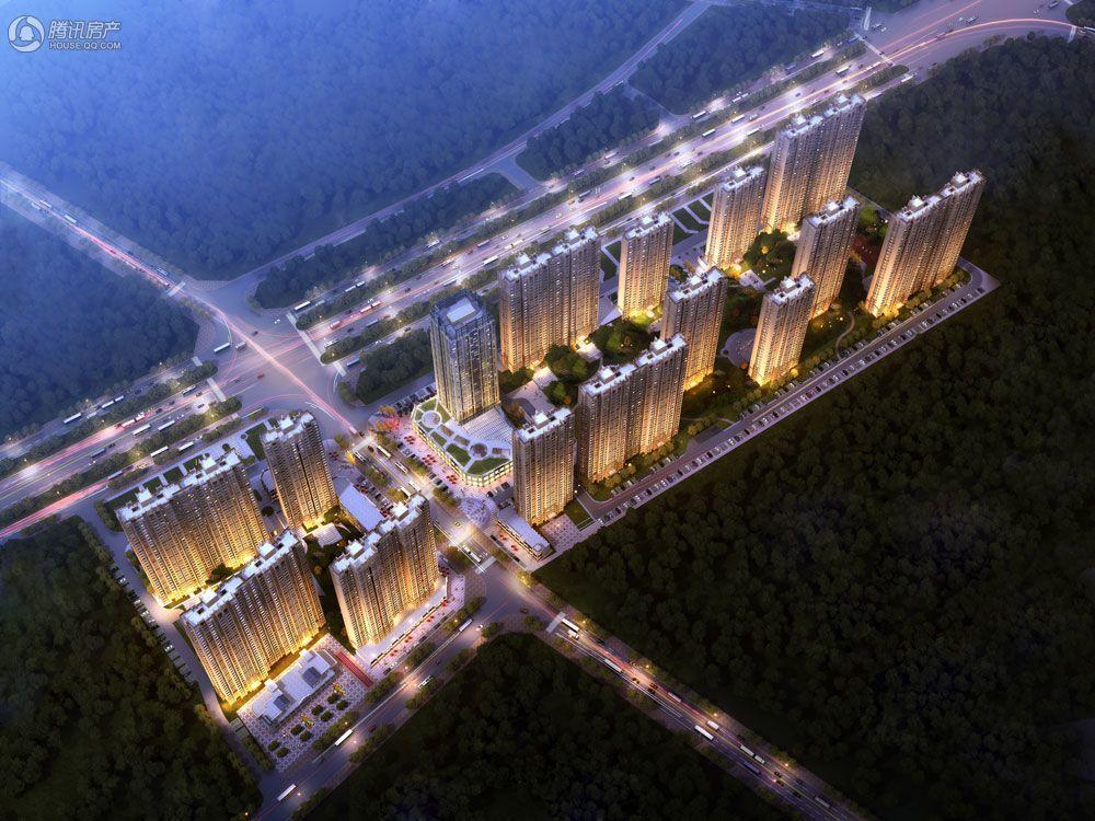 容州港九城鸟瞰图