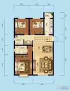 海成天山绿洲四期3室2厅2卫108平方米户型图