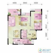中亿阳明山水3室2厅2卫89平方米户型图