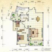 国际新城2室2厅1卫91平方米户型图