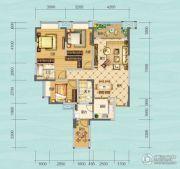 财信沙滨城市3室2厅2卫103平方米户型图