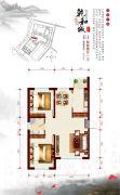 乾和城2室2厅1卫72--96平方米户型图