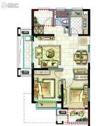 新湖明珠城2室2厅1卫89平方米户型图