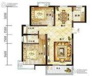 龙泽花园2室2厅1卫75平方米户型图