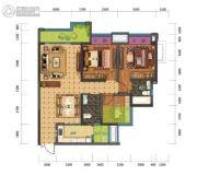 蓝光中央广场3室2厅2卫85平方米户型图