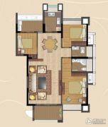 香景雅园3室2厅2卫100平方米户型图
