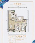 珠江花城5室2厅2卫113平方米户型图