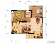 鸥鹏泊雅湾2室2厅1卫67平方米户型图
