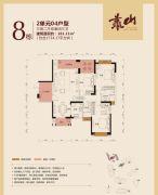公园豪宅・靠山3室2厅3卫161平方米户型图
