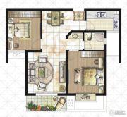 逸景湾2室2厅1卫89平方米户型图