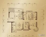 东方御景3室2厅2卫142平方米户型图