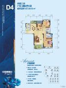 武汉中国健康谷3室2厅2卫128平方米户型图