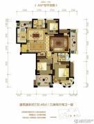 金世纪运河丽园3室2厅2卫130平方米户型图
