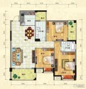 中泰名园3室2厅2卫105平方米户型图