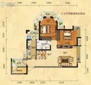 福庆花雨树3室2厅1卫97平方米户型图
