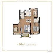 云麓之城3室2厅2卫0平方米户型图